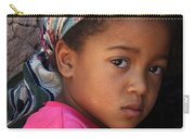 Portrait Of A Berber Girl Carry-all Pouch by Ralph A  Ledergerber-Photography