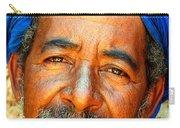 Portrait Of A Berber Man  Carry-all Pouch by Ralph A  Ledergerber-Photography