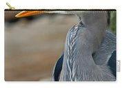 Portrait Of A Blue Heron Carry-all Pouch