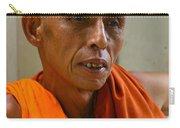 Portrait Of A Buddhist Monk Yangon Myanmar Carry-all Pouch