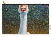 Portrait Of A Goose Carry-all Pouch by James W Johnson