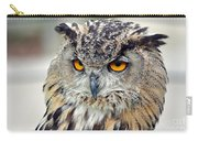 Portrait Of A Great Horned Owl II Carry-all Pouch