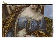Portrait Of A Lady As Saint Agnes Carry-all Pouch