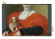 Portrait Of A Lady With A Lapdog Carry-all Pouch