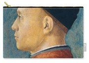 Portrait Of A Man Carry-all Pouch by Andrea Mantegna