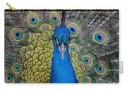 Portrait Of A Peacock Carry-all Pouch
