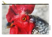 Portrait Of A Rooster Carry-all Pouch