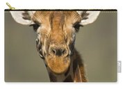 Portrait Of A Rothchilds Giraffe Carry-all Pouch