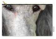 Portrait Of A Silver Poodle Carry-all Pouch