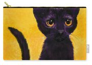 portrait of a small black cat named  LuLu Carry-all Pouch