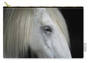 Portrait Of A White Horse Carry-all Pouch