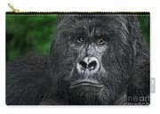 Portrait Of A Wild Mountain Gorilla Silverbackhighly Endangered Carry-all Pouch