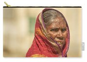 Portrait Of A Woman In Hampi Carry-all Pouch