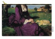 Portrait Of A Woman In Lilac Carry-all Pouch