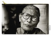 Portrait Of A Woman In Madurai Carry-all Pouch