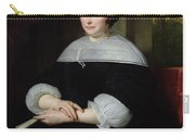 Portrait Of A Woman Oil On Canvas Carry-all Pouch
