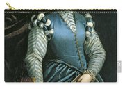 Portrait Of A Woman With A Dog Carry-all Pouch