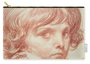 Portrait Of A Young Boy Carry-all Pouch