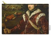 Portrait Of A Young Man As David Carry-all Pouch