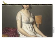 Portrait Of A Young Woman In White Carry-all Pouch by Jacques Louis David