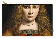 Portrait Of A Youth Crowned With Flowers Carry-all Pouch by Giovanni Antonio Boltraffio