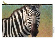 Portrait Of A Zebra - Square Carry-all Pouch