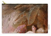 Portrait Of Adelaide Maria Guiness Reclining On A Sofa In A Conservatory Carry-all Pouch