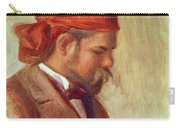 Portrait Of Ambroise Vollard 1868-1939 Oil On Panel Carry-all Pouch