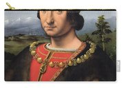 Portrait Of Charles Damboise 1471-1511 Marshal Of France Oil On Panel Carry-all Pouch
