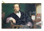 Portrait Of Charles Dickens Carry-all Pouch