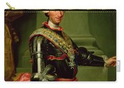 Portrait Of Charles IIi 1716-88 C.1761 Oil On Canvas Carry-all Pouch