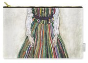Portrait Of Edith Schiele, The Artists Carry-all Pouch