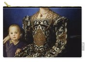 Portrait Of Eleanor Of Toledo With Her Son Giovanni De' Medici Carry-all Pouch