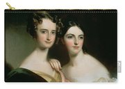 Portrait Of Ellen And Mary Mcilvaine, 1834 Oil On Canvas Carry-all Pouch