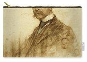 Portrait Of Emile Bertaux Carry-all Pouch