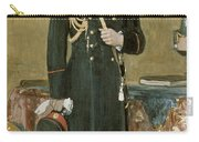 Portrait Of Emperor Nicholas II 1868-1918 1895 Oil On Canvas Carry-all Pouch