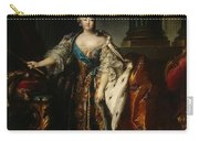 Portrait Of Empress Elizabeth, 1758 Oil On Canvas Carry-all Pouch