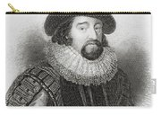 Portrait Of Francis Bacon Carry-all Pouch by English School