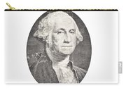 Portrait Of George Washington On White Background Carry-all Pouch