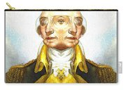 Portrait-of-george Washington Vert  2  Carry-all Pouch