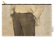 Portrait Of Hermenegild Miralles Carry-all Pouch