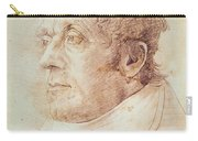 Portrait Of Jmw Turner Carry-all Pouch by Cornelius Varley