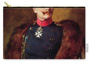 Portrait Of Kaiser Wilhelm II 1859-1941 Carry-all Pouch