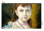 Portrait Of Little Girl Carry-all Pouch