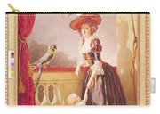 Portrait Of Louise-elisabeth De France 1727-59 Duchess Of Parma And Her Son Ferdinand 1751-1802 Carry-all Pouch