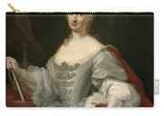 Portrait Of Maria Amalia Of Saxony As Queen Of Naples Overlooking The Neapolitan Crown Carry-all Pouch
