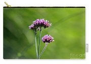 Portrait Of Purple Verbena Carry-all Pouch