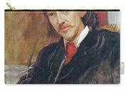 Portrait Of Robert Louis Stevenson 1850-1894 1886 Oil On Canvas Carry-all Pouch