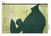 Portrait Of Sarah Bernhardt Carry-all Pouch by Manuel Orazi
