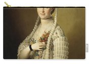 Portrait Of Sarah Cook Carry-all Pouch